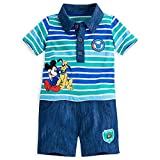 Disney Store Mickey Mouse Polo Romper Bodysuit Baby Infant 12-18 Months (12-18m)