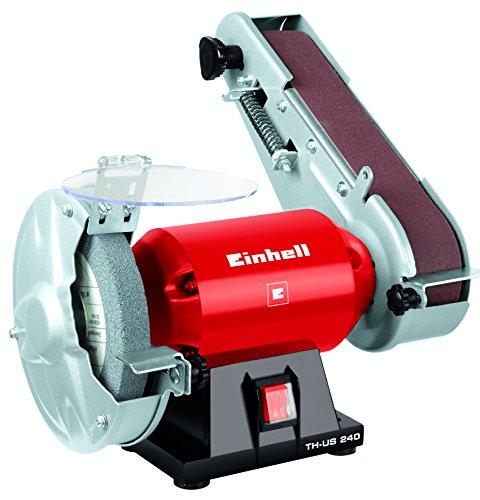 Einhell-Stand-Bandschleifer-TH-US-240-240-W-inkl-Grobschleifscheibe-und-Schleifband-Scheibendurchmesser-150-mm-Schleifband-50x686-mm