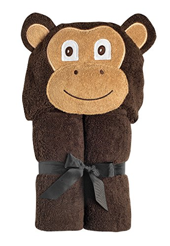 Yikes Twins Child hooded towel- Monkey