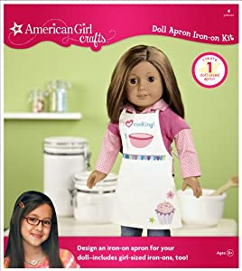 American girl crafts doll iron on kit apron for American girl craft kit