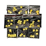 Ltvystore 50PCS 10Value 1NF-470NF Metallic Safety Polyester Film Capacitor Kit Set