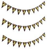 ハロウィン飾り かぼちゃフラッグガーランド 3個セット 三角フラッグ アップドラフト (Aタイプ 3個セット)
