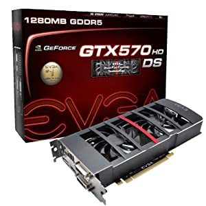 EVGA GeForce GTX 570 HD Double Shot 1280 MB GDDR5 PCB PCI-E 2.0 Graphics Card 012-P3-1577-KR