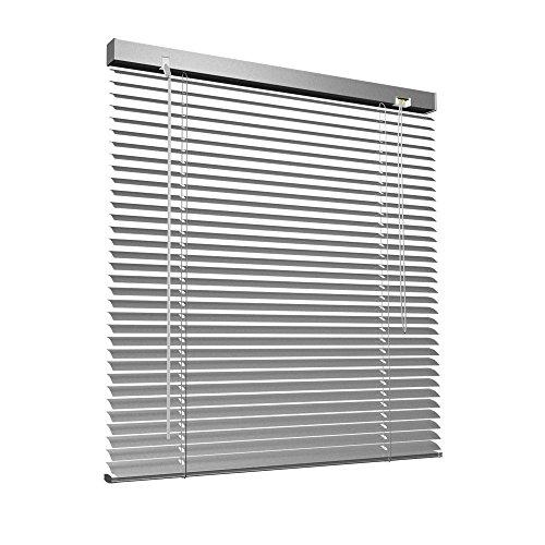 Aluminium Jalousie, 80 x 130 cm, silber, VICTORIA M - Jalousie ohne Bohren, inkl. Klemmclips