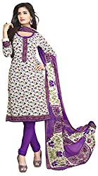VSS Collections Women's Synthetic Unstitched Dress Material(1072,Multi-Color)
