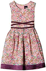 Herberto Girls' Party and Evening Dress (HRBT-DRESS-093-1_Pink_3 - 4  years)