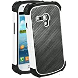 teKKno® Protective Shock Proof Stylish Dual Case Cover And LCD Guard for Samsung Galaxy S3 Mini i8190 / White