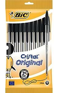 BiC Cristal Medium Ball Pen - Black (Pack of 10)