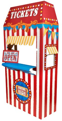 Carnival Games Party Supplies - Ticket Booth Cardboard Stand
