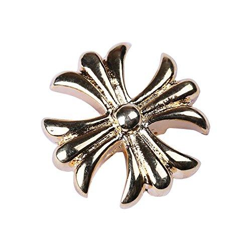 Collezione Rock di alta elastico regolabile oro 18K anello da piede in confezione regalo, 18ct base metallo placcato oro, colore: Silver, cod. EOC06