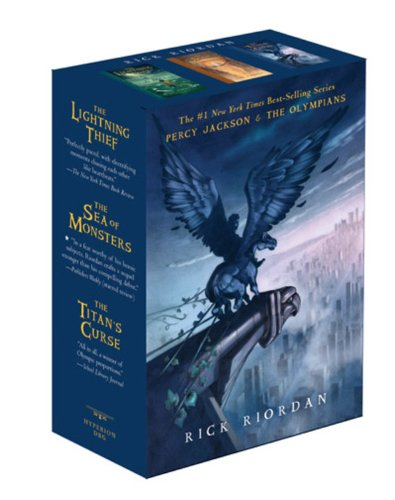 Cover of Percy Jackson and the Olympians Paperback Boxed Set (Books 1-3)