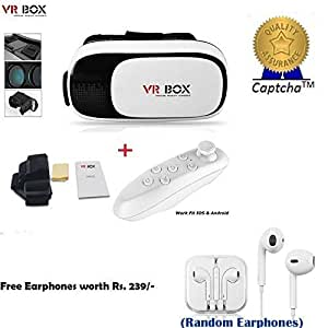 HTC Desire 700 Compatible Ceritfied Set of VR Box and Bluetooth Remote Controller (For Gaming/Video watching) (Assorted Color) with FREE GIFT