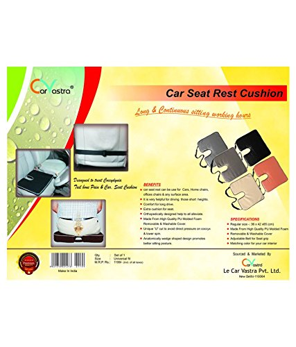 amiciKart Branded Car Seat Rest Cushion For Long And Continuous Sitting Hours