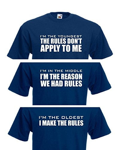 sibling-rules-adults-novelty-tshirt-brother-sister-present-secret-santa-gift-funny-joke-xl-navy-midd