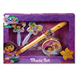 Dora the Explorer Nickelodeon Music Boxed Set w/Flute Maracas & Tamborine ages 3 and up