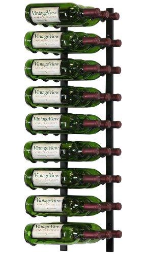 VintageView - WS33-K - 27 Bottle Wall Mounted Metal Hanging Wine Rack - 3 Foot (Satin Black) (Hanging Wine Rack 3 compare prices)