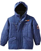 Weatherproof Little Boys' Box Quilted Bubble Jacket with Detachable Sherpa Trim Hood