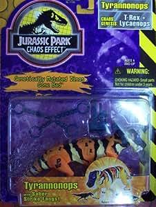 Amazon Com Jurassic Park Chaos Effect Tyrannonops Toys