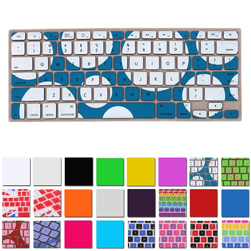 Hde Silicone Rubber Keyboard Skin For Macbook Pro (Non-Retina) (Blue Polka Dot)