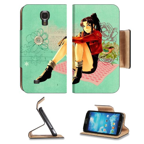 Neon Genesis Evangelion Misato Samsung Galaxy S4 Flip Cover Case With Card Holder Customized Made To Order Support Ready Premium Deluxe Pu Leather 5 Inch (140Mm) X 3 1/4 Inch (80Mm) X 9/16 Inch (14Mm) Liil S Iv S 4 Professional Cases Accessories Open Came front-904887