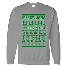 Merryjuana Weed Ugly Christmas Sweater Sweatshirt Sweater
