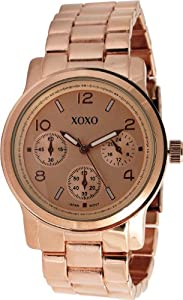 XOXO Women's XO171 Rose Gold-Tone Bracelet Analog Watch