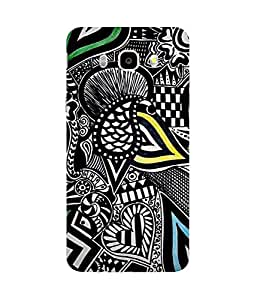 Abstract Black And White Print Samsung Galaxy J5 Case