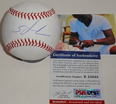 Miguel Sano Minnesota Twins Autographed Signed Baseball PSA DNA COA