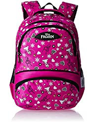 Frozen Nylon 48 Cms Pink And Black Children's Backpack (MBE-WDP0462)