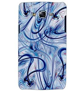 PrintDhaba BLUE LINE PATTERN D-6303 Back Case Cover for SAMSUNG GALAXY J5 (Multi-Coloured)