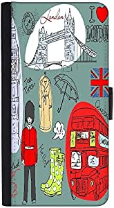 Snoogg London Doodlesdesigner Protective Flip Case Cover For Htc M7