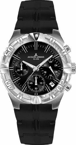 Jacques Lemans Damen-Armbanduhr XS Sport Chronograph Quarz Kautschuk 1-1758A