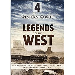 4-Movie Legends of the West V.1: The Fighting Westerner / Rage at Dawn / To the Last Man / Abilene Town
