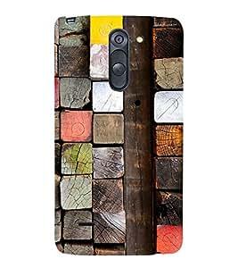 Colourful Wooden Blocks 3D Hard Polycarbonate Designer Back Case Cover for LG G3 Stylus :: LG G3 Stylus D690N :: LG G3 Stylus D690