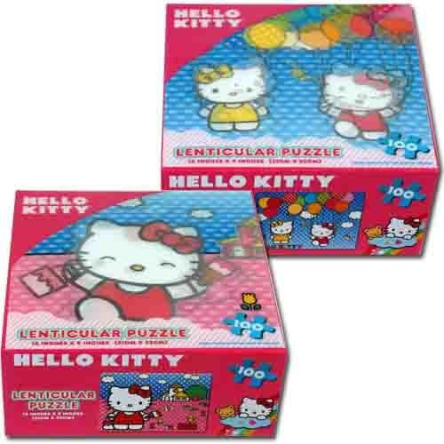 Hello Kitty 100 piece Painting Lenticular Puzzle - 1