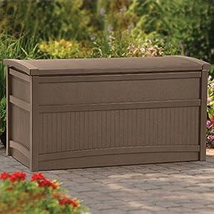Suncast Deck Box Brown – 50 Gallon