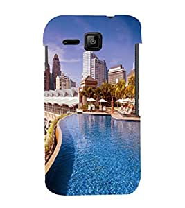 printtech Building Waterpool Back Case Cover for Micromax Bolt S301