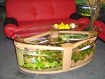 Hot Sale Oval Coffee Table Aquarium with filter, pump, light, heater, completely fish ready