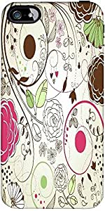 Snoogg Retro Floral Background Designer Protective Back Case Cover Forforappl...