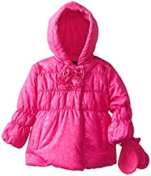 Rothschild Baby Girls\' Embossed Jacket, Rubylight, 18 Months