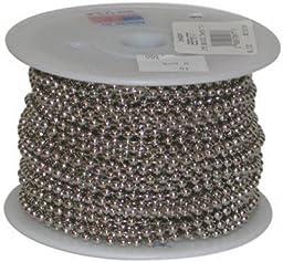 JANDORF SPECIALTY HARDWARE 88444 100\' #6 Nickel Plated Steel Bead Chain