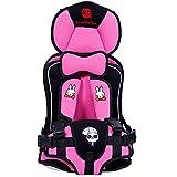 Ann baby チャイルドシート 簡易携帯式 取り付け簡単 子供キッズ幼児用 学童用 (Pink) ジュニアシート
