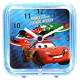 Disney Cars 2, Childrens Square Alarm Clock Featuring Lightning Mcqueen