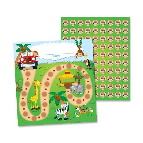Carson Dellosa Jungle Safari Mini Incentive Charts (148004) (Classroom Reading Charts compare prices)