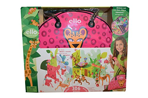 Brand New Toy In Box Ello Creation System Jungala Deluxe Set 306 Pc With Tote Mattel front-787041