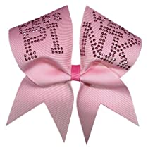 On Wednesdays We Wear Pink Cheer Bow