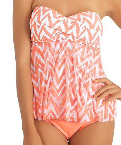 Athena women 39 s finesse banded bikini bottom coral 14 for Banded bottom shirts canada