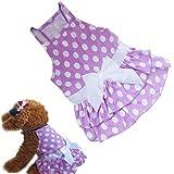 Binmer(TM)New Dog Clothes Puppy Dog Princess Dress Summer Sweet Dog Camisole Skirt Pet Dog Bowknot Tutu Dress (S)