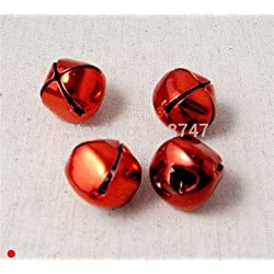 Multi option color Jingle bell for Christmas decoration Diy accessories (red 20mm 12pcs)