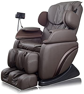 Best Valued Massage Chair New Full Featured Luxury Shiatsu Chair Built in Heat and True Zero Gravity Positioning. Brown Free 3/3 AMAZON EXCLUSIVE Extended Warranty